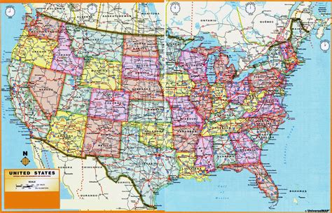 large printable road maps large scale administrative divisions map of the usa usa