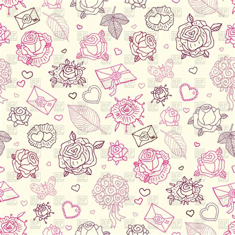 Wedding Background Letter by Seamless Wedding Pattern With Roses