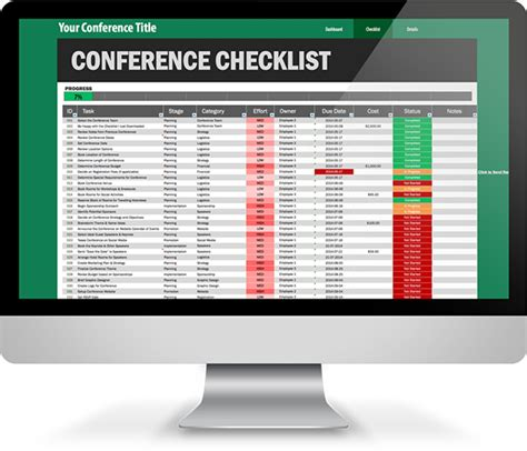 trade show budget template conference planning checklist excel template on behance