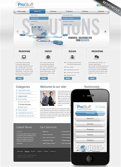 professional business responsive wordpress theme