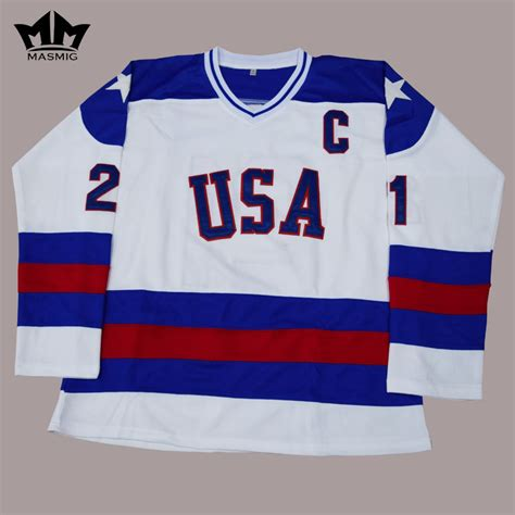 aliexpress hockey jersey mm masmig mike eruzione usa hockey jersey 21 1980 miracle