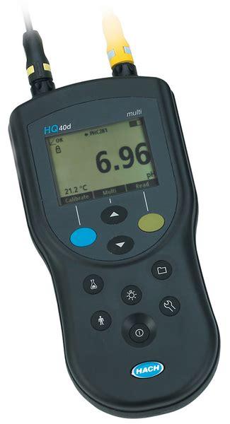 Portable Multi Ph Meter Hach Hq40d hq40d digital multi meter kit ph gel cond electrode