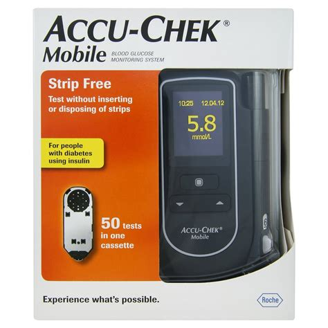Accu Mobil accu chek mobile blood glucose diabetes monitoring system kit