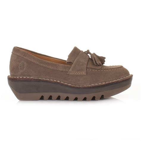 fly shoes womens fly juno flatform desert suede shoes loafers