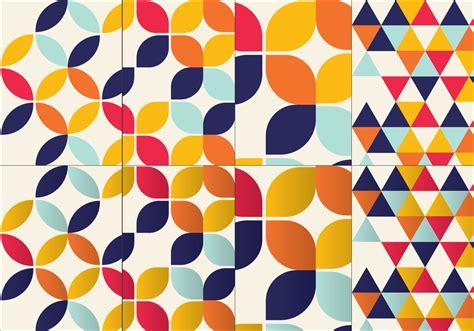 vector pattern set bauhaus inspired pattern set download free vector art