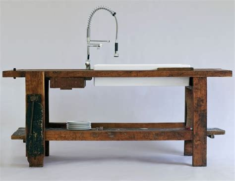 kitchen island bench with sink perfect a workbench turned into a kitchen counter with