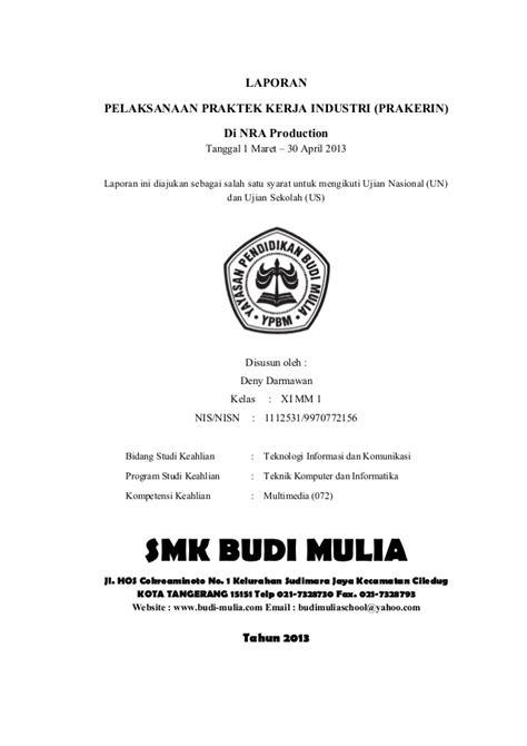 format makalah pkl contoh cover page contoh wa