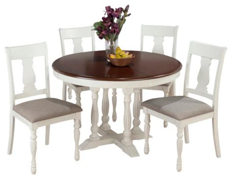 round dining room sets with leaf jofran 693 48 chesterfield tavern 6 piece round butterfly