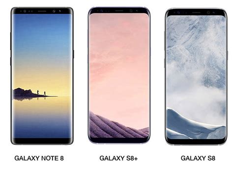 Samsung S8 Note 8 leaked galaxy note 8 render poses next to galaxy s8 s8