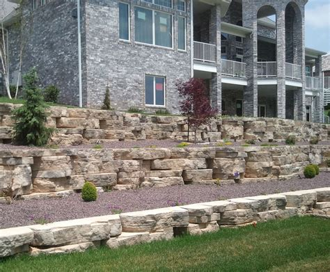 rosetta stone block midwest hardscape rosetta hardscapes outcroppings and steps