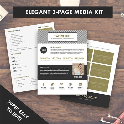 59 Best Images About Media Kit Inspiration A Media Kit That Sells Free Email Course On Free Press Kit Template