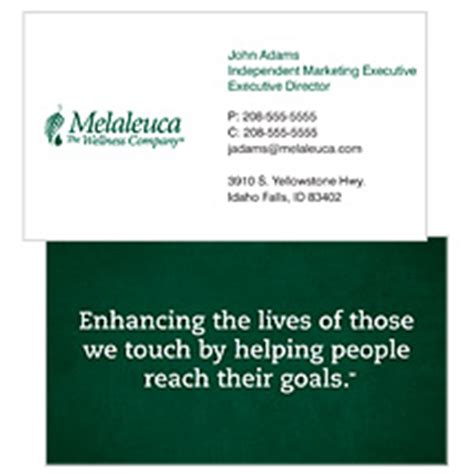melaleuca business cards templates business card statement choice image business card template