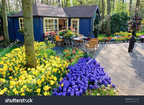 Flower Shop Keukenhof Gardens Lisse Netherlands Stock Flower Shop Palm Gardens