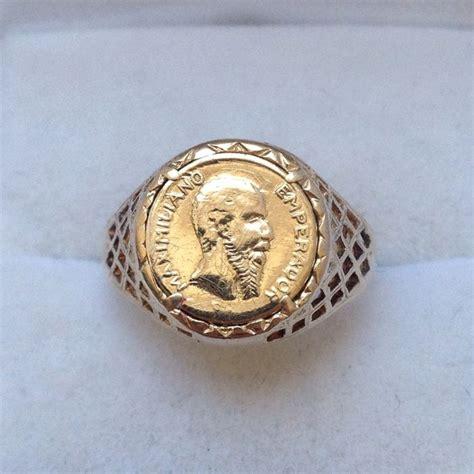 gold peso ring catawiki