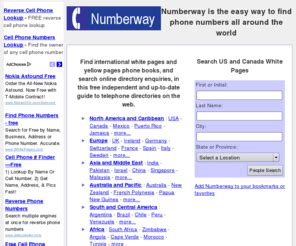 Phone Lookup Worldwide Numberway Free White Pages Search International Phone Books