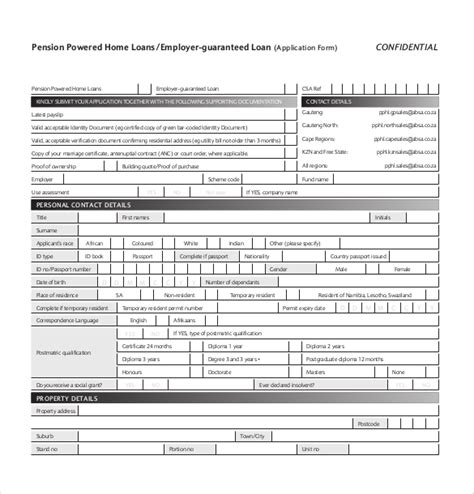 application for housing loan loan application templates 7 free sle exle format download free