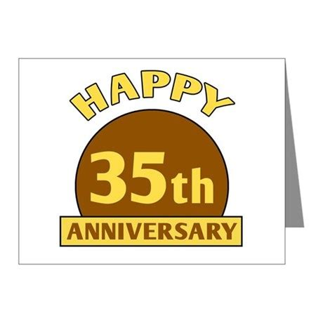 35th Wedding Anniversary by 35th Wedding Anniversary Note Cards Pk Of 10 By