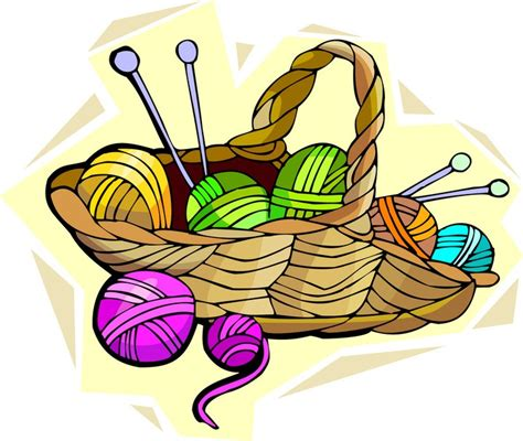 knitting clipart knit and crochet clipart