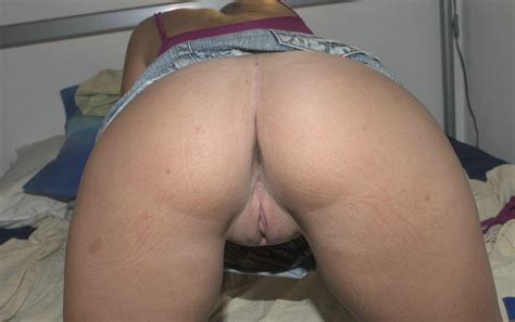 Hot Big Round Ass And Shaved Pussy From Behind
