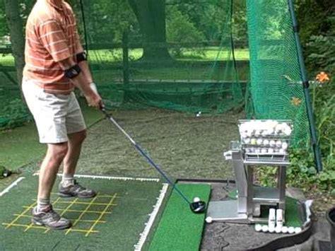 Golf Auto Tee Up Machine by Automatic Golf Ball Dispenser Tee Up Machine Youtube