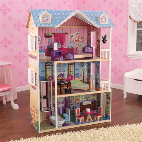 barbie doll house accessories dollhouse with 14 accessories barbie size furniture girl toy gift doll house new ebay