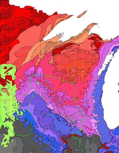 map of the united states with key geologic map of the united states