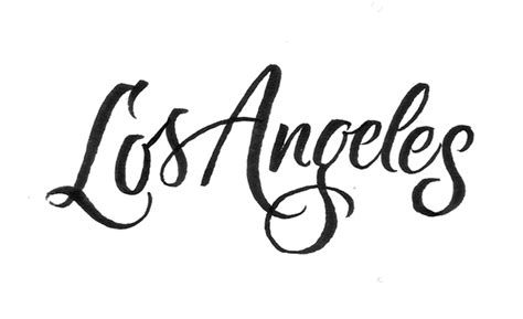 tattoo font los angeles los angeles lettering on behance
