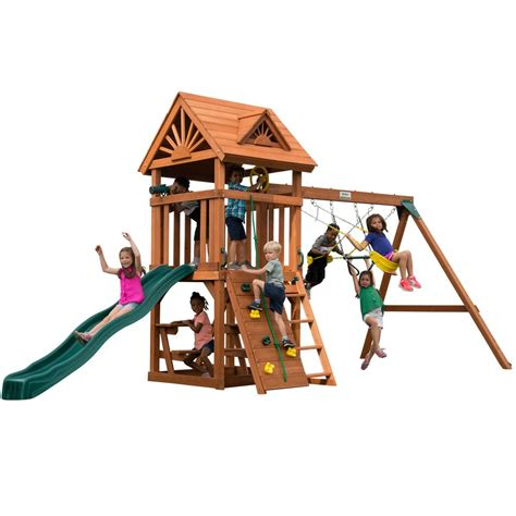 swing n slide playsets swing n slide playsets sky tower wood complete playset