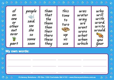 Word Mat by Word Mat Literacy Solutions