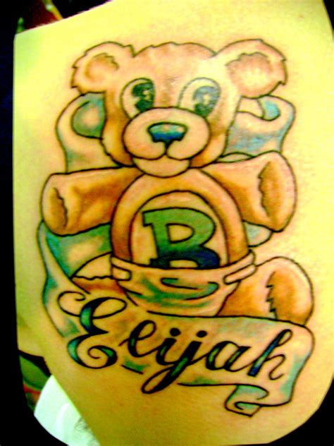angel bear tattoo designs teddy ideas and teddy designs