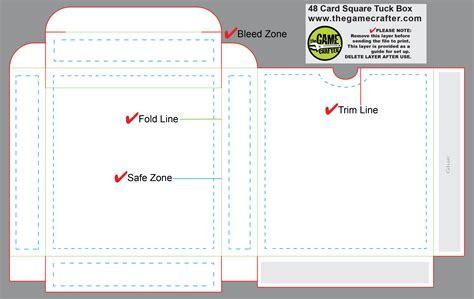 54 card tuck box template square tuck box 48 cards