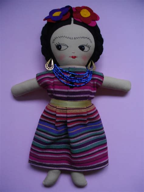 mexican rag dolls for sale frida kahlo doll handmade ragdoll ooak doll mexican