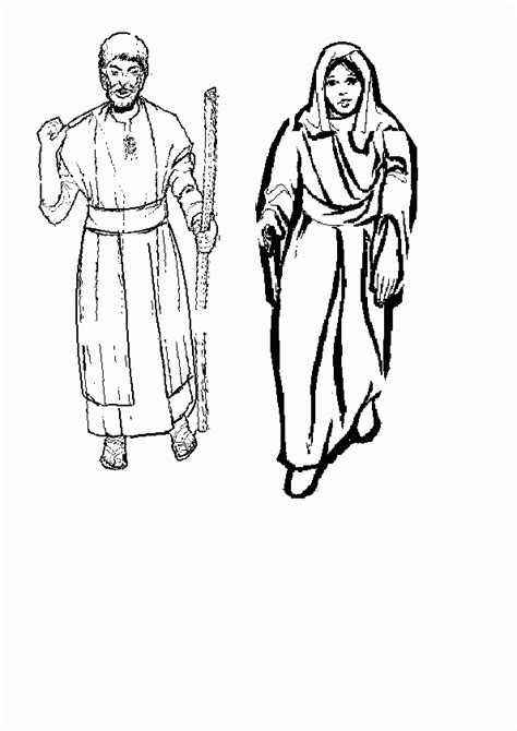 coloring pictures mary joseph coloring page of joesph and mary coloring home