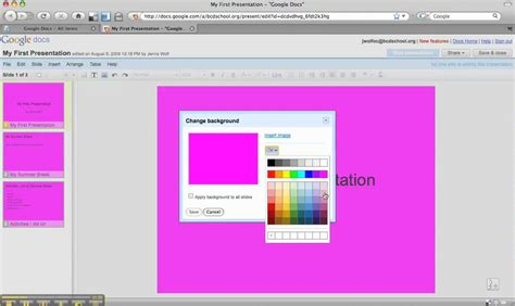 google themes that change change background color google docs coloring page