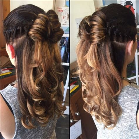 hairstyles curly hair half up half down 23 latest half up half down hairstyle trends for 2016