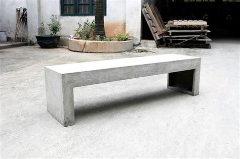 outdoor concrete benches mondern concrete bench