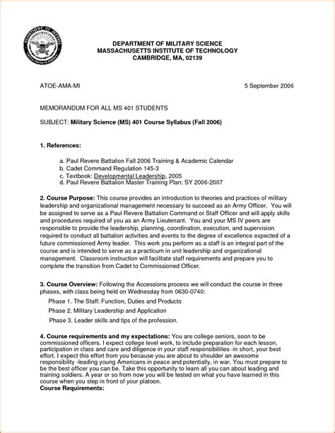 Aar Briefformat Memo Template 7 Best Images Of Wlc Memorandum For Record Exle Army 9 Army Memo