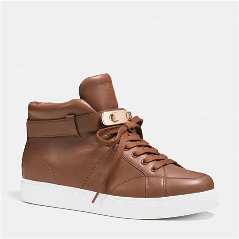 coach sneakers lyst coach richmond swagger sneaker in brown