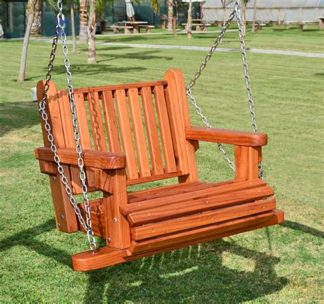 wooden swing chairs garden chair swing redwood swings forever redwood