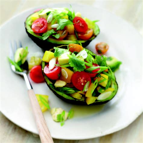 avocado salad with bell pepper and tomatoes recipe epicurious com