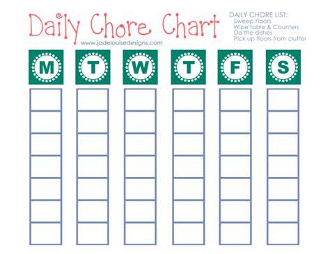 Blank Printable Chore Charts