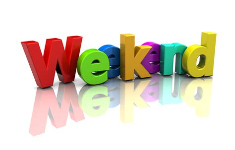 preposition for weekend using a borrowed language