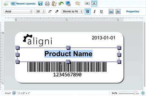 inventory tag template part and inventory labels aligni