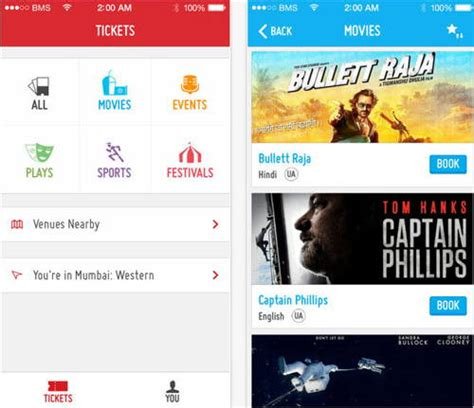 bookmyshow indore book event tickets from iphone with app bookmyshow india