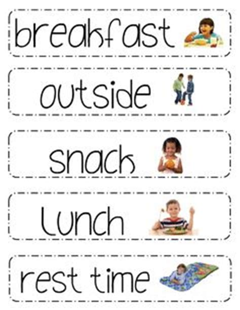 printable daily schedule pictures for preschool 1000 images about visual schedules and picture routines