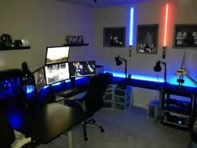 Large Area Rugs Cheap A U Shaped Desk With 4 Monitors A Star Wars Nerds Dream