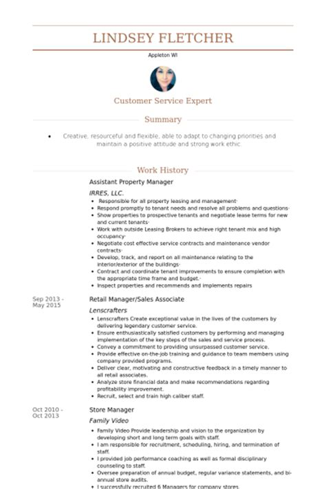 assistant property manager resume sles visualcv