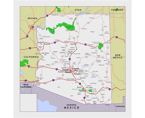 arizona state on us map maps of arizona state collection of detailed maps of