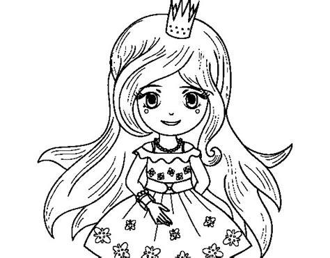 dibujos de princesas para colorear p gina 2 dibujo de princesa primavera para colorear dibujos net