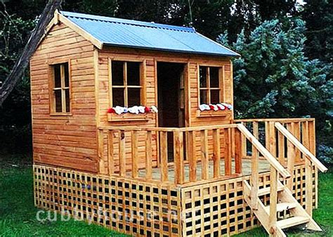 elevated cubby house plans diy elevated cubby house plans home photo style